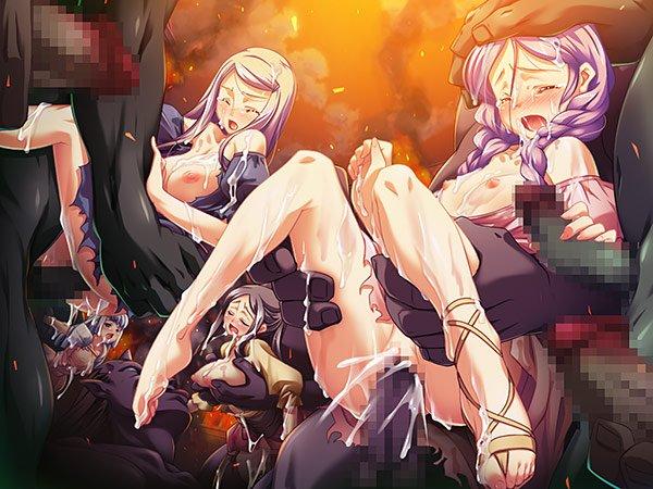 黒獣・改 女騎士 異種姦 輪姦 レイプ エロゲ画像